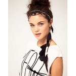 Black Feather Drop Headband