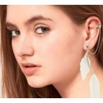 White Feather Ear Cuff
