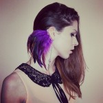 Iridescent Feather Ear Cuff