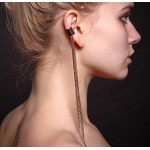 Long Chained Ear Cuff