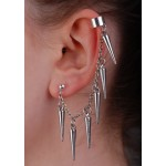 Spikes Drop Ear Cuff