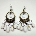 White Teardrop Dangle Earrings