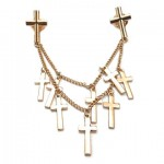 Multi Cross Double Chain Collar Tips