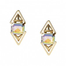 Double PRISM Gold Stud Earrings