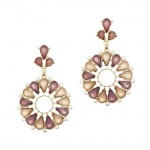 Bradley Flower Stone Earrings