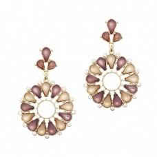 Bradley Flower Stone Earrings