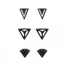 Dark Stud Earrings Set