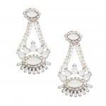 Pave Stone Drop Earrings