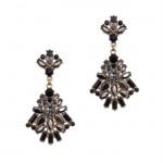 Natasha Jet Crystal Earrings