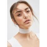 White Wide Velvet Necklace