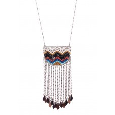 Tribal Chain Fringe Necklace