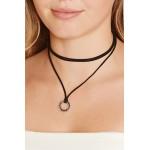 Circle Cutout Choker Necklace