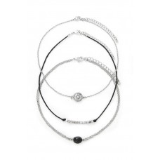 3 x Gem Layered Choker Necklace