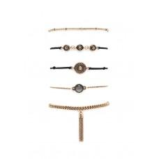 5 x Burnished Stone Bracelet Set