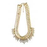 Multi-Strand Crystal Chain Neckl