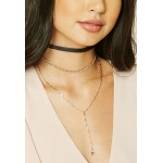 3 x Triangle Charm Choker Set