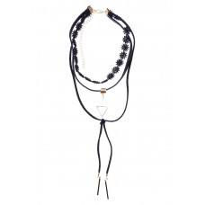 Geometric Bolo Choker Necklace