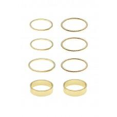 8 x Gold Band Ring Set