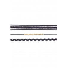 3 x Spiral & Beaded Choker Set