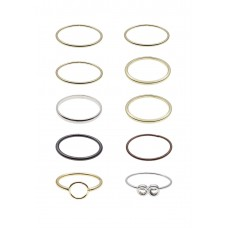 10 x Delicate Ring Set