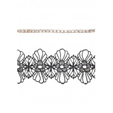 2 x Crochet Floral and Rhinestone Bracelets