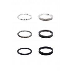 6 x Sandblast Ring Set