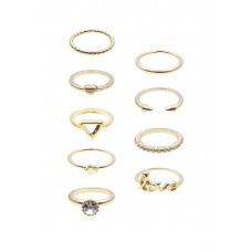 9 x Classic and Midi Ring Set