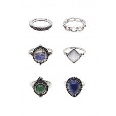 6 x Montana Stoned Ring Set