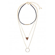 Geo Charm Layering Choker Necklace