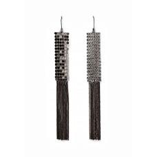 Metal Mesh Fringe Earrings