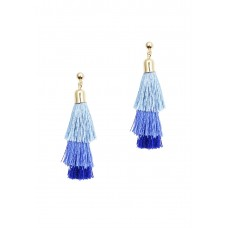 Blue Ombré Tassel Earrings