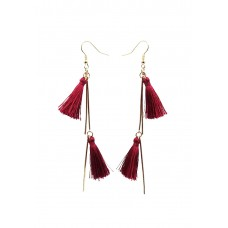 Double Tassel Drop Earrings
