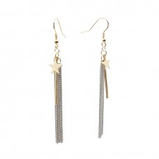 Shooting Star Tassel Earrings