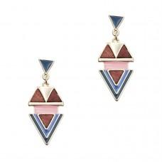 Geo Enamel Earrings