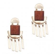 Luna Wooden Earrings