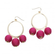 Corsica Pom Pom Earrings