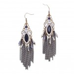 Baroque Filigree Tassel Earrings
