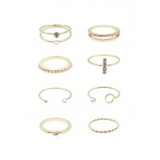 8 x Quintet Mix Ring Set