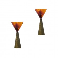 Tassiana Resin Triangle Earrings