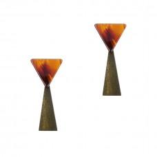 Tassiana Resin Triangle Earrings
