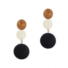 Fareena Wooden Drop Earrings