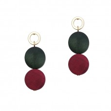 Colorblock Wooden Petite Earrings