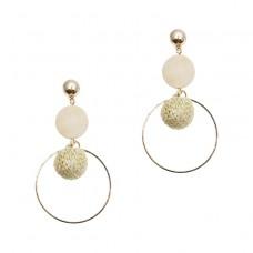 Woven Ball Drop Earrings
