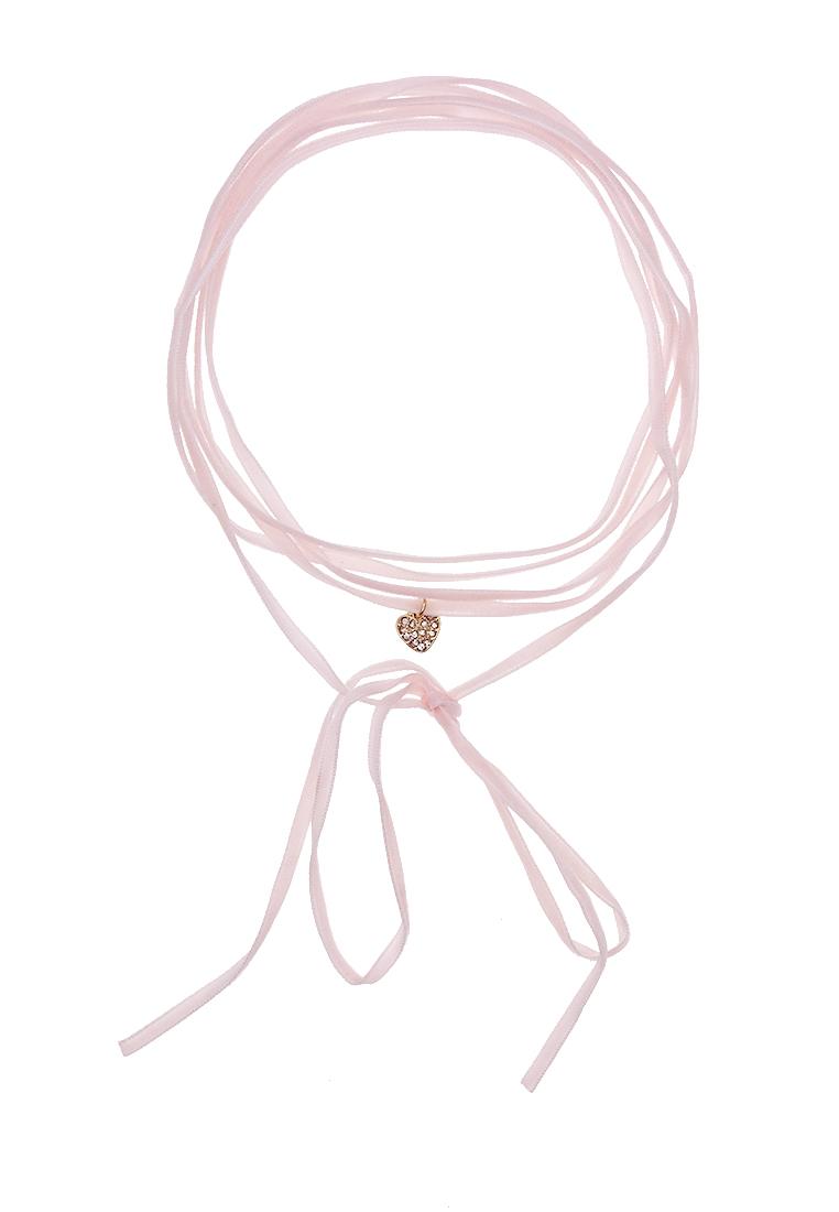 2 x Pink Velvet Bolo Choker