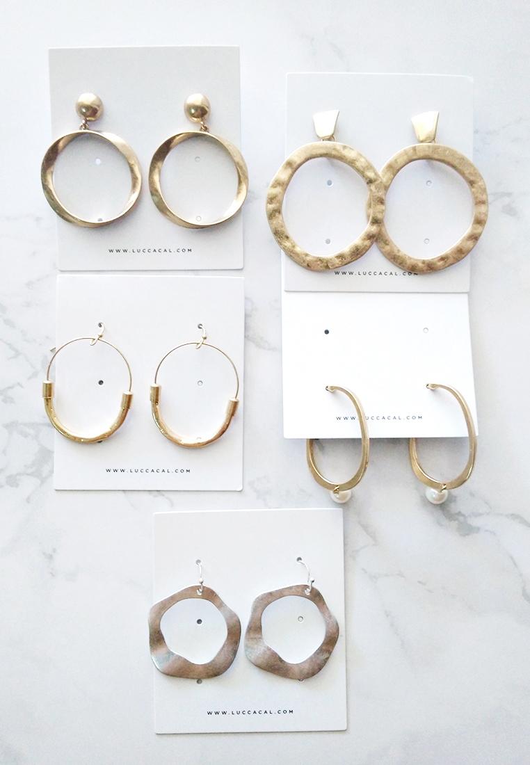 Darien Pearl Hoop Earrings