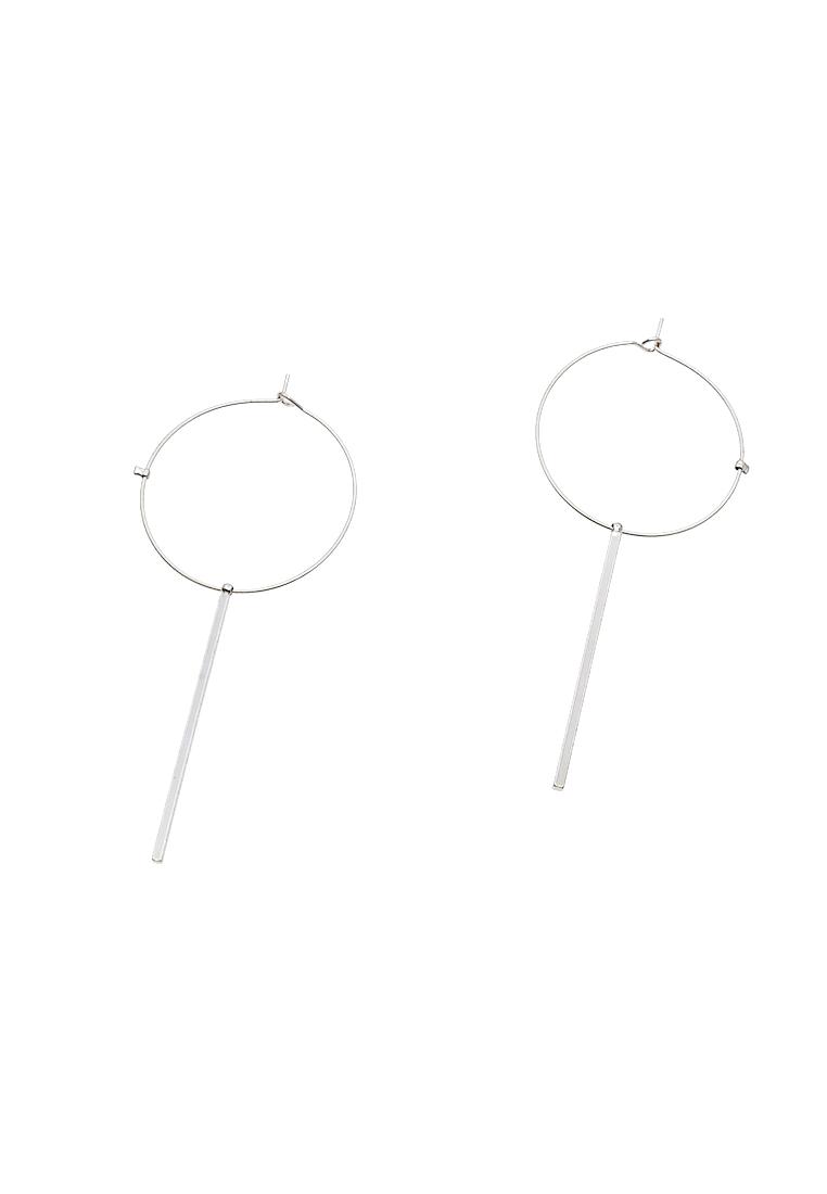 Ring & Bar Hoop Earrings