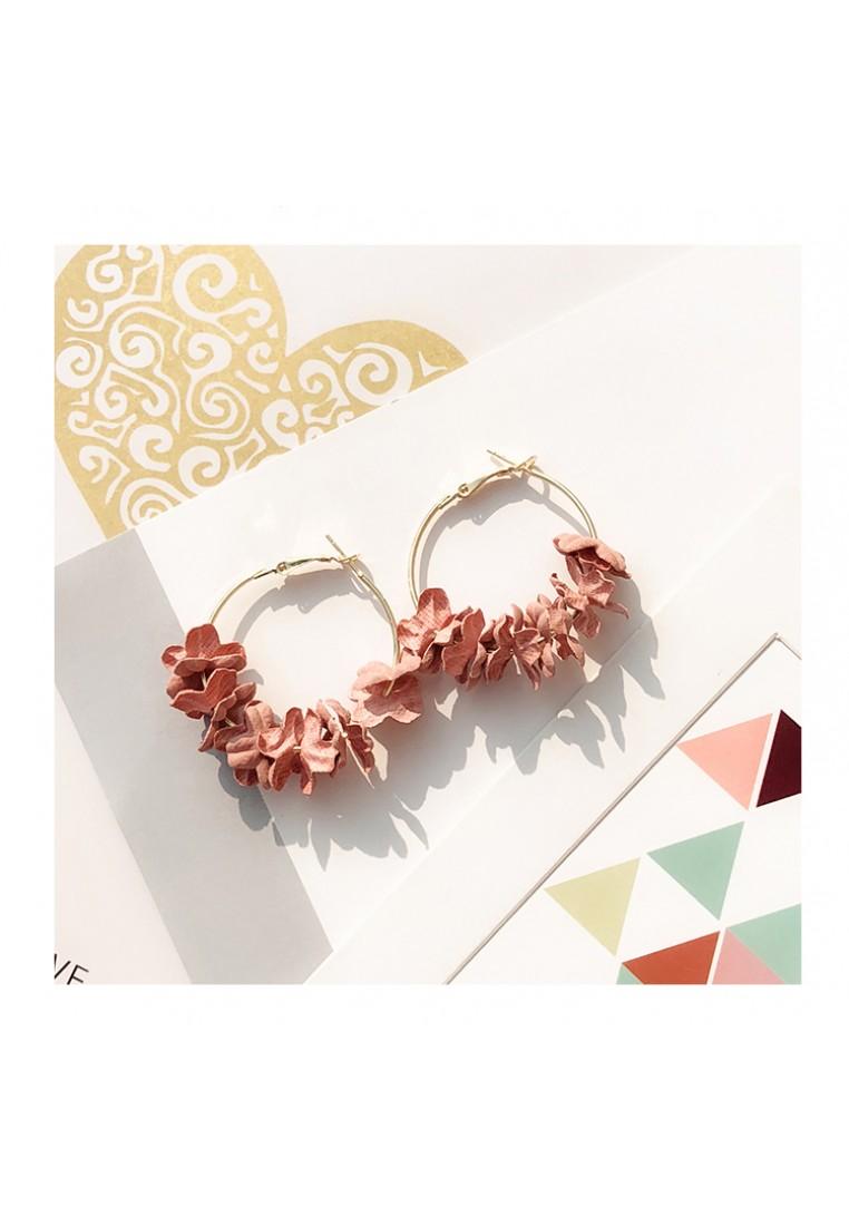 Flower Garden Hoop Earrings