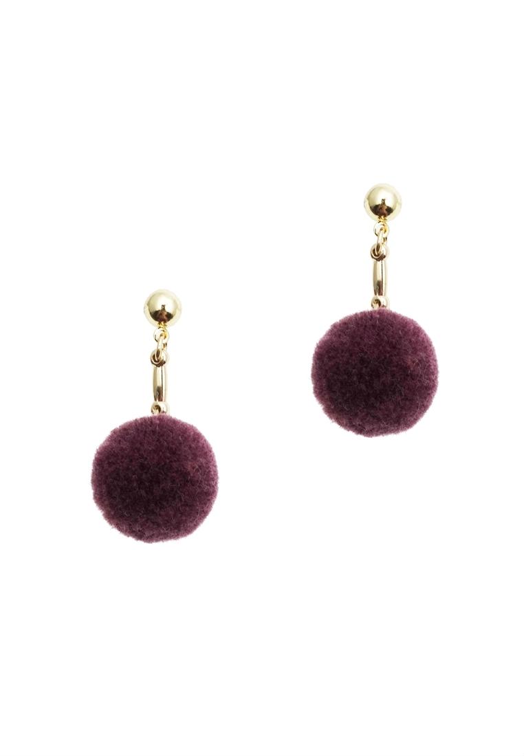 Pom Pom Ball Drop Earrings