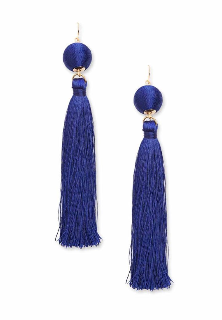 Bauble & Tassel Drop Earrings