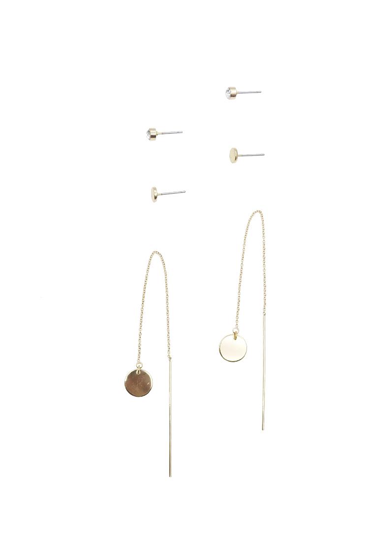 3 x Drop Me A Line Chain Threader Earrings